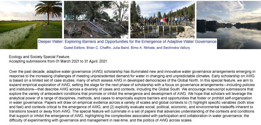 Deeper Water: Exploring Barriers and Opportunities for the Emergence of   Adaptive Water Governance
