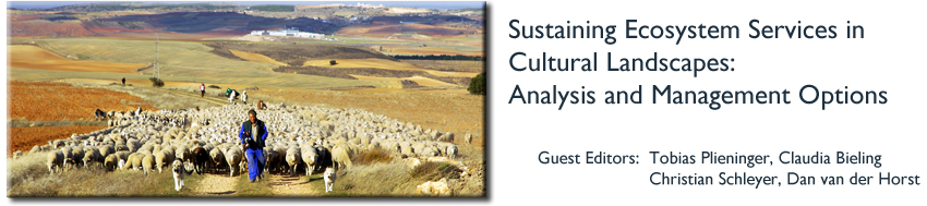 Sustaining Ecosystem Services in Cultural Landscapes: Analysis and Management Options
